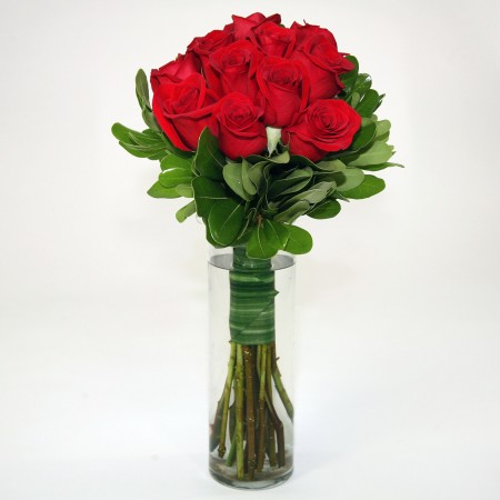 Muze bouquet - one dozen long stemmed roses
