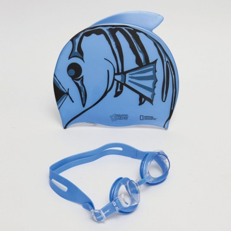 Clown Swim Cap blue (2)